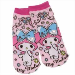 マイメロディ 女性用靴下 レディースアクセサリーソックス ストーン付き サンリオ キャラクターグッズ通販