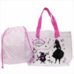 ふしぎの国のアリス プールバッグ 巾着付きクリアトートバッグ 2018SS ディズニー キャラクターグッズ通販