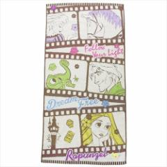 塔の上のラプンツェル バスタオル ジャガードビッグタオル フラワームービー ディズニープリンセス キャラクターグッズ通販