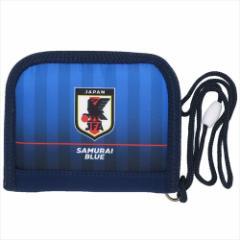 サッカー日本代表 2つ折り財布 ラウンドウォレット サムライブルー  フットボールグッズ通販 メール便可