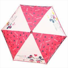 ミッキー&ミニー 折畳耐風傘 折りたたみかさ レッドハート ディズニー キャラクターグッズ通販