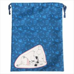 ムーミン 巾着袋 ビッグ きんちゃくポーチ ムーミンとママ 北欧 キャラクターグッズ通販 メール便可