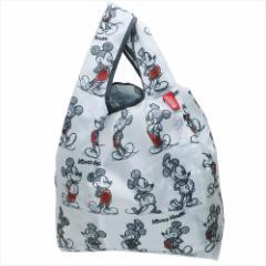 ミッキーマウス エコバッグ ルーショッパー GRID ディズニー キャラクターグッズ通販 メール便可