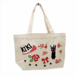 魔女の宅急便 ランチバッグ 刺繍キャンバスミニトート ジジとローズ スタジオジブリ キャラクターグッズ通販 メール便可