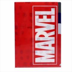 MARVEL ファイル 3ポケットA4クリアファイル POP ICON マーベル キャラクターグッズ通販 メール便可