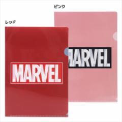 MARVEL ファイル A4シングルクリアファイル BOXロゴ マーベル キャラクターグッズ通販 メール便可