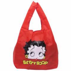 ベティブープ エコバッグ 折りたたみ ショッピングバッグ FACE レッド キャラクターグッズ通販 メール便可