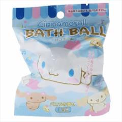 シナモロール 入浴剤 マスコットが飛び出るバスボール バニラの香り サンリオ キャラクターグッズ通販
