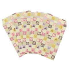 ミニーマウス ぽち袋 和紙 ポチ袋 5枚セット 市松 ディズニー キャラクターグッズ通販 メール便可