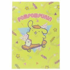 ポムポムプリン ファイル A4 シングル クリアファイル 80s POP サンリオ キャラクターグッズ通販 メール便可