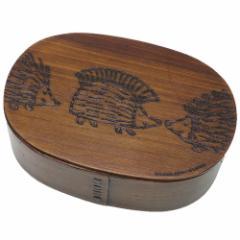 リサラーソン 木製 ランチボックス 曲げわっぱ 小判 1段 弁当箱 ハリネズミ 北欧 520ml キャラクター グッズ