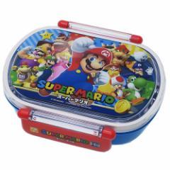 スーパーマリオ お弁当箱 食洗機対応 小判型 タイトランチボックス nintendo 360ml キャラクター グッズ