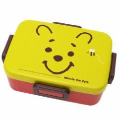 くまのプーさん お弁当箱 4点ロック ランチボックス フェイス ディズニー 650ml キャラクター グッズ