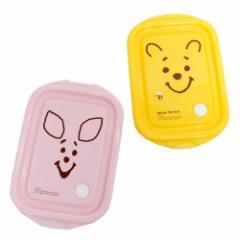 くまのプーさん シール容器 シールボックス M 2個セット フェイス ディズニー 500ml×2 キャラクター グッズ