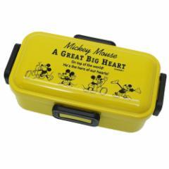 ミッキーマウス お弁当箱 4点ロック ふわっと ランチボックス Cheerful ディズニー 530ml キャラクター グッズ