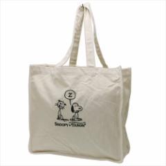 スヌーピー トートバッグ グランデ キャンバス刺繍トート Faron ピーナッツ 手提げかばん キャラクター グッズ
