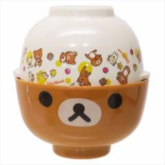 リラックマ ギフト食器 メラミン茶碗&汁椀セット サンエックス 350ml 360ml キャラクター グッズ