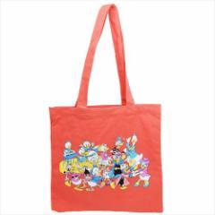 ミッキー&フレンズ トートバッグ カラートート ダンス ディズニー 35×35cm キャラクター グッズ
