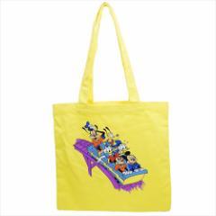 ミッキー&フレンズ トートバッグ カラートート ジェットコースター ディズニー 35×35cm キャラクター グッズ