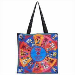 ミッキー&フレンズ トートバッグ ポリサテントート ゲームボード03 ディズニー 35×35cm キャラクター グッズ