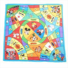 ミッキー&フレンズ ポケットチーフ ポリサテンクロスS ゲームボード01 ディズニー 50×50cm キャラクター グッズ
