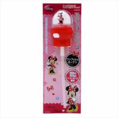 ミニーマウス ペットボトル用ふたストロー ドーム型プッシュ式ストローホッパーキャップ ディズニー 350ml 500ml兼用
