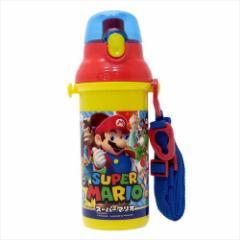 スーパーマリオ 水筒 直飲みプラワンタッチボトル 17 nintendo 480ml キャラクター グッズ