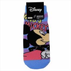 ミッキーマウス 子供用靴下 ジュニアソックス おしりフリフリ ディズニー 15×21cm キャラクター グッズ メール便可