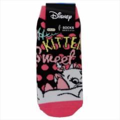 おしゃれキャット マリー 子供用靴下 ジュニアソックス おしりフリフリ ディズニー 15×21cm キャラクター グッズ メール便可