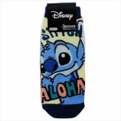 スティッチ 子供用靴下 ジュニアソックス おしりフリフリ ディズニー 15×21cm キャラクター グッズ メール便可