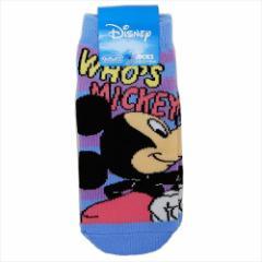 ミッキーマウス 子供用靴下 キッズソックス おしりフリフリ ディズニー 13〜18cm キャラクター グッズ メール便可