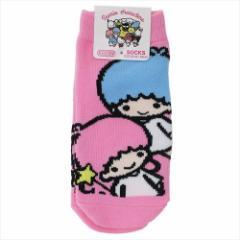 リトルツインスターズ キキ&ララ 子供用靴下 キッズソックス ポップ サンリオ 13〜18cm キャラクター グッズ メール便可