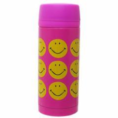 保温 保冷 水筒 ステンレスマグボトル SMILE PINK 350ml ギフト雑貨 グッズ