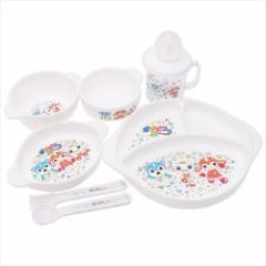 ガラピコぷー ベビー食器セット キッズ食器6点セット NHK ストローカップ スプーン フォーク 茶碗 スープ皿 小皿 ランチプレート