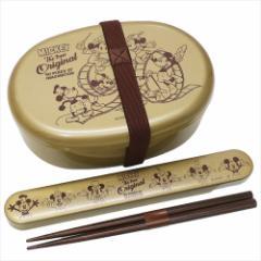 ミッキーマウス ランチセット お弁当2点セット Celebration Art ディズニー 漆器小型弁当箱&漆器箸箱セット キャラクター グッズ