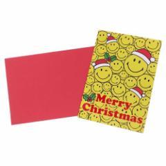 スマイリーフェイス グリーティングカード 封筒付きクリスマスカード 461 スプリング付き Smiley Face かわいい メール便可