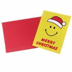 スマイリーフェイス ミニカード 封筒付きミニクリスマスカード 643 Smiley Face かわいい キャラクター グッズ メール便可