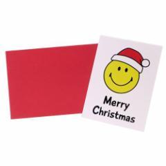 スマイリーフェイス ミニカード 封筒付きミニクリスマスカード 644 Smiley Face かわいい キャラクター グッズ メール便可