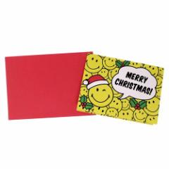 スマイリーフェイス ミニカード 封筒付きミニクリスマスカード 645 Smiley Face かわいい キャラクター グッズ メール便可