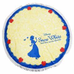 白雪姫 円形ひざ掛け毛布 ラウンドブランケット ドレス ディズニープリンセス 直径120cm キャラクター グッズ