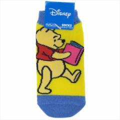 くまのプーさん 子供用靴下 キッズソックス リーディング ディズニー 13〜18cm キャラクター グッズ メール便可
