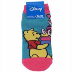 くまのプーさん 子供用靴下 キッズソックス おすわり ディズニー 13〜18cm キャラクター グッズ メール便可