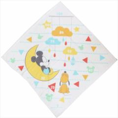 ミッキーマウス ベビーバスタオル 身長計湯上げタオル すやすやおやすみ ディズニー 90×90cm キャラクター グッズ