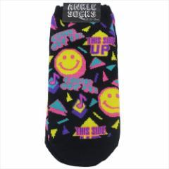 SMILE 90's 男女兼用靴下 アンクルソックス 23〜26cm おもしろZAKKA グッズ メール便可