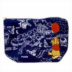 くまのプーさん コスメポーチ 舟形ポーチ 風船旅行 ディズニー 化粧品入れ キャラクター グッズ メール便可