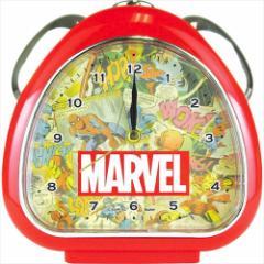 マーベル 目覚まし時計 おむすびクロック レッド 卓上クロック アメコミキャラクター グッズ