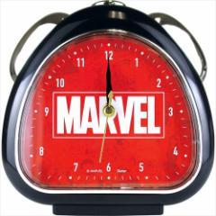 マーベル 目覚まし時計 おむすびクロック ブラック 卓上クロック アメコミキャラクター グッズ