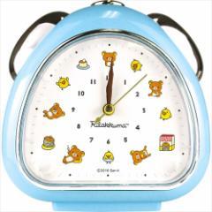 リラックマ 目覚まし時計 おむすびクロック アイコン ブルー サンエックス 卓上クロック キャラクター グッズ
