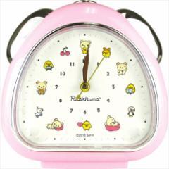 リラックマ 目覚まし時計 おむすびクロック アイコン ピンク サンエックス 卓上クロック キャラクター グッズ