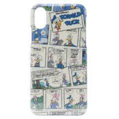 ドナルド&デイジー iPhone XS ケース アイフォン XS ハードカバー コミック ディズニー 5.8インチモデル メール便可